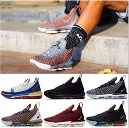huge discount aa251 ced3a 2019 THRU LMTD Starting Oreo FRISCHE BRÜTTUNG Was die XVI 16 james  Multicolor-Basketballschuhe LeBRon 16s Wolf Grey Sports