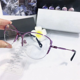 gafas mitad marco ojo de gato Rebajas Nueva moda superventas gafas ópticas cat eye simple medio marco popular generoso estilo casual transparente marco de lente 50F