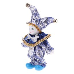 Exhibición de vestuario online-16cm Bastante italiana Porcelana Triangel muñeca En Traje Home Decor Display # 6