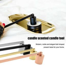 strumenti di facile utilizzo Sconti Stainless Steel Candle Snuffer assassino Wick Trimmer Strumento multi colore spegnere un incendio su Bell Easy da usare Candela Coperchio ZZA1710