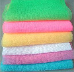 massages japonais Promotion salux beauté tissu de la peau exfoliant gant de toilette japonais corps lavage serviette massage du corps nettoyage salle de bains brosses serviettes