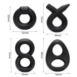 anelli del prepuzio Sconti DHL all'ingrosso adulto liquido gel di silice anello di blocco maschio ritardo anello prepuzio blocco complesso anello commercio estero stile caldo