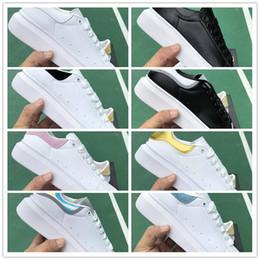Nombres para hombre zapatillas online-La moda de lujo hombre y para mujer de marca zapatos de las nuevas señoras y niñas de color de la familia zapatos planos casuales con zapatos para caminar corrientes al aire libre 36-45