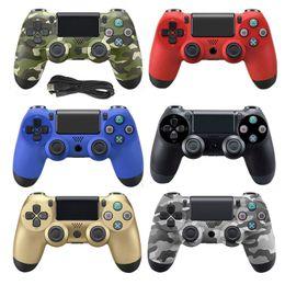Controladores usb para pc online-Controlador con cable USB de doble descarga para PS4 PC Joystick 2.2M Cable para PS4 Consola PS3 para Playstation Dualshock 4 Gamepad