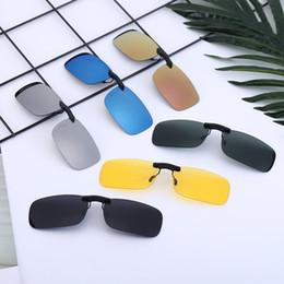 clip nachtsichtbrille Rabatt Männer polarisierten Sonnenbrillen Objektiv Kreative Frauen Flip-up-Clip auf Brillen Fashion Night Vision Goggles Sonnenbrillen Clip TTA1269-14