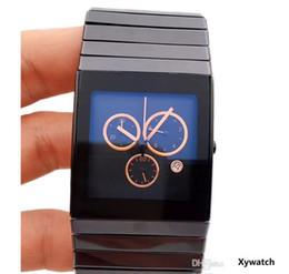 Ceramica xl online-2019 vendita calda di alta qualità RD Full Black ceramica XL movimento al quarzo Cronografo Mens Watch Cronometro maschile orologio da polso