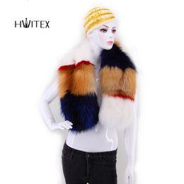 Argentina XQ017 2019 nuevas mujeres de la manera real de piel de zorro rojo bufanda de piel larga dama cinta de cuello de piel genuina envuelve envío gratis Suministro