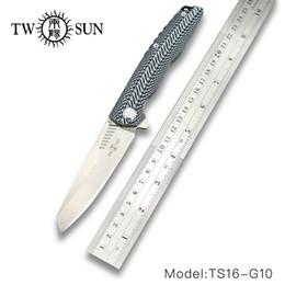 Coltello pieghevole TWOSUN TS20 D2 Coltello tascabile Coltello tattico Coltelli sopravvivenza Coltelli caccia strumento da campeggio all'aperto G10 da