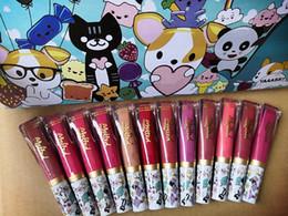 2019 crème nue 12color / set Marque Brillant À Lèvres Mat Durable Nude Velvet Lèvres Crème Tatouage Labiales Matte Liquide Rouge À Lèvres Cosmétiques crème nue pas cher