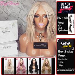 Platin brasilianisches reines haar online-Bythair Farbe # 60 Platinum Blonde Perücke Glueless Short Bob Wellenförmige voller Spitze-Perücke brasilianische Jungfrau-Menschenhaar-Spitze-Front-Perücke für weiße Frauen