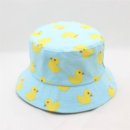 04913f62c76 LDSLYJR Cartoon duck print Bucket Hat Fisherman Hat outdoor travel hat Sun  Cap Hats for Men and Women 277