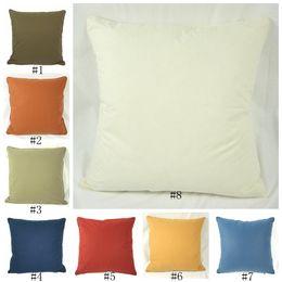almohadas en blanco Rebajas Sarga de algodón cubierta de almohadas almohada rectángulo blanco en blanco Plano Cojín perfecto para los artesanos personalizada su propio diseño EEA548