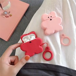 2021 auriculares de oso Color Bear Earphone Case for Airpods Cute Case Soft Silicone Earphone Cover for Airpods 1 2 Headphone Case Ring Strap Cover DHL
