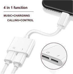 Conectores de luz online-2 en 1 Adaptador doble de 3.5 mm para iluminación Auriculares Conectores de cargador de audio Cable para iPhone X XR 7 8 Versión más reciente IOS 10.3 Carga rápida