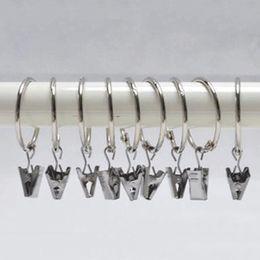Überzug Vorhang Ringe Clip Dusche Bad Vorhang Ringe Clip Easy Glide Haken Vorhangstange Clips Home Vorhänge Zubehör 2,5 cm DBC DH0906 von Fabrikanten