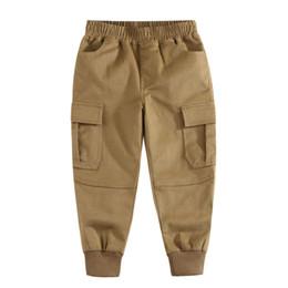 2020 mono de invierno para niños 2019 New Baby Boys Pantalones casuales Diseñador Ropa para niños Otoño Invierno Niños Pantalones de algodón Pantalones para niños Pantalones de overol rebajas mono de invierno para niños