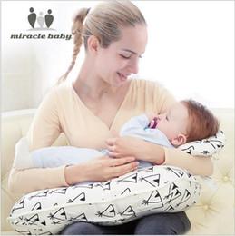 cuscini per l'alimentazione del bambino Sconti Cuscino per allattamento multifunzionale stampa Cuscino per allattamento Cuscino per neonato moda Forniture neonatale Cuscino per regolazione cotone CLS58