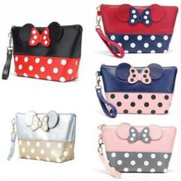 Сумка для путешествий онлайн-5styles Dot бантом косметический мешок сцепления девушка сумка для хранения портативный мода макияж сумка девушка путешествия партии сумки туалетные организатор FFA1538