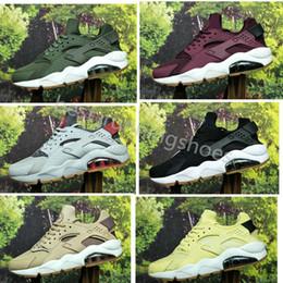 new styles 5daeb 6f879 2018 Huarache ID Custom Men Running Shoes Navy Blue Tan Huaraches Designer  Huraches Mens Womens air Trainers Hurache Sports Sneakers
