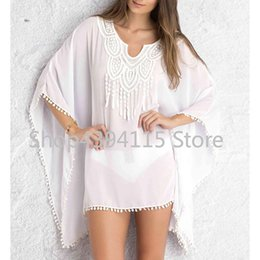 47cce6018c4ce Chiffon Beach Tunic Loose Embroidery Bikini Cover Up Women Swimsuit Cover  up Beachwear 2016 Summer Style Bathing Suit Cover-Ups