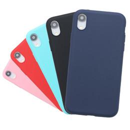 étui iphone couverture de gel mat Promotion Cuir givré De Luxe En Cuir Soft Gel En Caoutchouc Mat Couverture Couvre Téléphone Cas Pour iPhone XR XS Max 5 6S 7 Plus 8 plus Cas