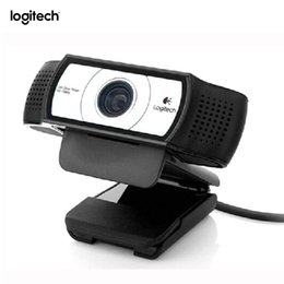 2019 lente de zoom de vídeo Cámara web C930e HD Smart 1080P original con cubierta para computadora Zeiss Lens Cámara de video USB 4 Tiempo Digital Zoom Web cam rebajas lente de zoom de vídeo