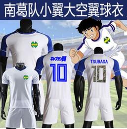 Pé cosplay on-line-Kids / tamanho 2019 2020 kits de futebol Homens Ásia, cosplay Maillot de Foot uniforme Captain Tsubasa japão camiseta Oliver Atom camisa agradável de futebol