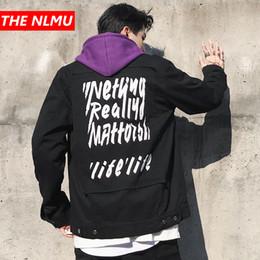 Marka Mektup Baskılı Denim Ceketler Erkek Yüksek Sokak Kot Ceket Kaban Erkek Kadın Hip Hop Yama Tasarım Streetwear Siyah Kırmızı WG201 cheap jeans jacket men design nereden kot ceket erkek tasarımı tedarikçiler