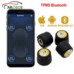 Argentina TPMS coche Bluetooth 4.0 Android Sistema de monitoreo de presión de Bluetooth Sensores 4 PCS externos Para el carro del coche SUV autobús Suministro