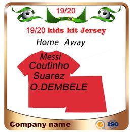 camisa suárez Rebajas 2019 # 10 MESSI kids kit home Soccer Jersey 19/20 # 9 SUAREZ # 7 COUTINHO Camiseta de fútbol para niños # 11 O.DEMBELE # 14 COUTINHO Uniformes de fútbol