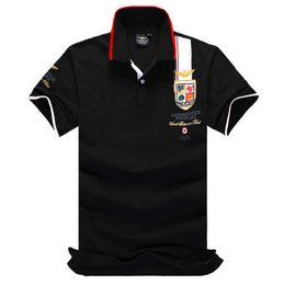 polos chico Rebajas Marca de moda Poloshirt camisa del bordado sólido de los hombres camisas de polo de manga larga para hombre Top básico Polos para niños diseñador camiseta