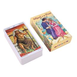 использует колесо Скидка 2019 новое Колесо Года Таро читать судьба Таро карточная игра для личного пользования настольная игра 78-карточная колода и путеводитель 2019 Drop Shipping