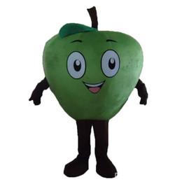 Trajes de manzana verde online-Halloween Little Green Apple traje de la mascota de calidad superior de dibujos animados chino gigante Anime tema personaje carnaval de la navidad trajes de fiesta