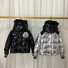 Parkas bebé niña online-Baby Boys Girls Down Parkas invierno moda niños prendas de vestir exteriores niñas casual chaqueta abrigada para niños niños Parka Jacket snowsuit