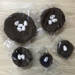 Photos paques en Ligne-Pâques nid d'oiseau vigne paille tissée nid d'oiseau à la main nid accessoires photo Pâques décoration de la maison