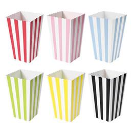 2019 scatole per popcorn 120pcs caramella di favore Trattare Popcorn Sanck Boxes Nozze rifornimento Saluto Circles Baby Shower strisce di natale festa di compleanno contenitore di regali sconti scatole per popcorn