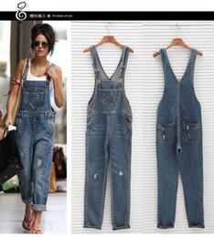 Garota jeans geral on-line-Mulheres menina denim lavado bodysuit CWomens Macacão macacão jeans macacões