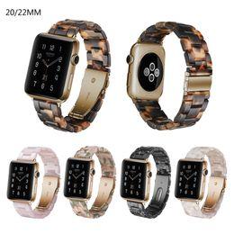 2019 sangle de résine Bracelet de montre en résine multicolore Bracelets de montre en céramique imitation Bande de bracelet de montre 20mm 22mm Accessoires Bracelet sangle de résine pas cher