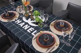 Argentina Elegante mantel a cuadros estampado Nueva mesa de lujo de algodón y lino Mantel impermeable para todas las estaciones Suministro
