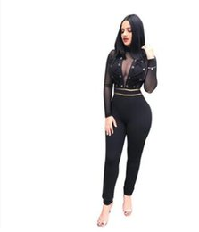 e446bd2584e9 Wholesale-2019 Sexy Club Dress Womens Mini Bodycon Dress Party Bandage  Dresses Long Sleeves Bodysuit Lace patchwork see through Dress E04