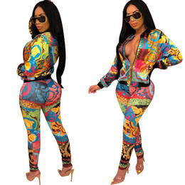 Fato de macacão on-line-2019 mulheres novo botão de impressão v-pescoço manga curta amarrar hem tee top calças retas 2pcs terno definir agasalho jumpsuit