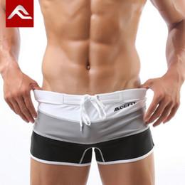 2019 tronco de calças masculinas sexy ACEFIT Marca Swimwear Swimsuit Homem Gay Swimwear Dos Homens Boxer Sexy Maiô Shorts De Natação Para Masculino Nadar Desgaste 2016 M-XXL tronco de calças masculinas sexy barato