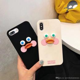 Pato móvil online-UK0001 Cute duck Mobile Shell Cover para iphone xs xr xsmax fundas protegen por completo fundas de ojos grandes para iphone 6 7 8 plus soft