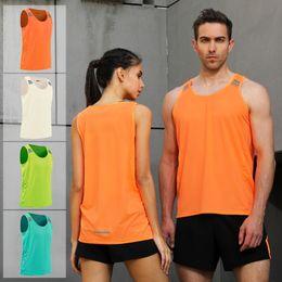 laufende taschentasche Rabatt Lauf Herren Weste Gym Sleeveless Shirt Sommer-dünne Behälter XS-3XL 2020 Frauen Sport Vest Top New Workout Trainings Man Singlet