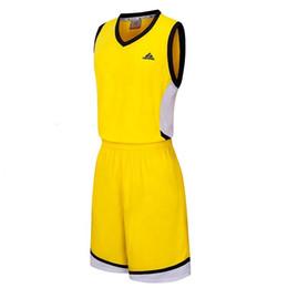 Брошь трикотажные изделия 4xl онлайн-Мужчины Баскетбол Обучение Джерси Набор пережиток Blank колледж костюмы дышащего баскетбольная Униформа Набор Customized