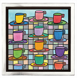 2020 arte colorida da lona James Rizzi - o mais COPOS COLORIDOS DO CAFÉ Home Decor pintado à mão HD Imprimir pintura a óleo sobre tela Wall Art Canvas Pictures 191224 desconto arte colorida da lona