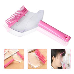 Schlägt online-1 piece bangs trimming artifact transparent haircut Bangs Comb Hair Cutting tool 2 in 1 Hair Cutting Clippers Trimmer Supporter