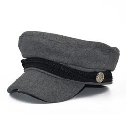 New Trend cappelli invernali per donna stile francese lana Baker s Boy  cappello piatto militare femminile Cool berretto da baseball nero berretto  visiera ... a72c47397bee