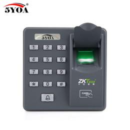 5YOA 5YBX6A Biométrique D'empreinte Digitale De Contrôle D'accès Intercom Machine Numérique Électrique Code de RFID Système Pour Serrure De Porte Clés ? partir de fabricateur