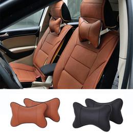 Canada 1 Pcs Siège d'auto Repose-tête de cou oreiller confortable Rest Soft Pad Neck Support Coussin Accessoires voiture PVC Coussin en cuir Offre
